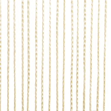 vidaXL Draperii cu franjuri, 2 buc., 140 x 250 cm, crem[4/4]