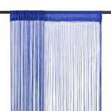 vidaXL Zasłony sznurkowe, 2 sztuki, 100 x 250 cm, niebieskie