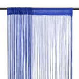 vidaXL Cortinas de fios 2 pcs 140x250 cm azul