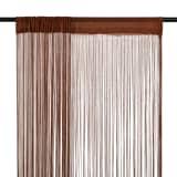 vidaXL String Curtains 2 pcs 100x250 cm Brown