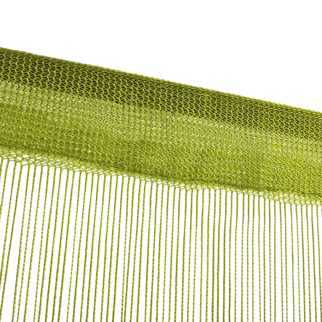 vidaXL Draadgordijnen 100x250 cm groen 2 st