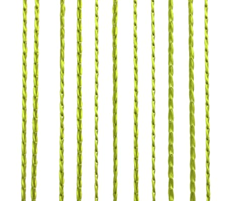 vidaXL Κουρτίνες με Κρόσσια 2 τεμ. Πράσινες 100 x 250 εκ.[3/4]