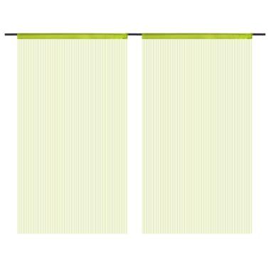 vidaXL Κουρτίνες με Κρόσσια 2 τεμ. Πράσινες 100 x 250 εκ.[2/4]