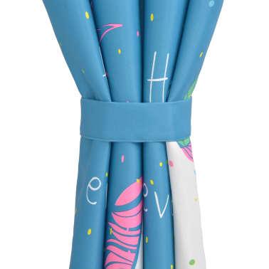 vidaXL Draperii opace camera copiilor, 2 buc, 140 x 240 cm, albastru[4/4]