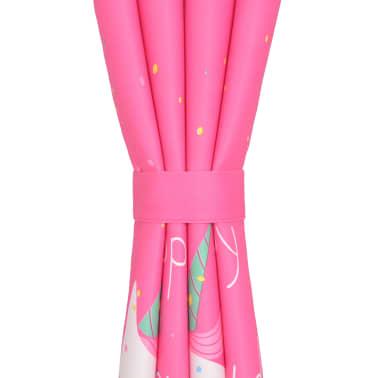 vidaXL Draperii opace pentru camera copiilor, 2 buc, 140x240 cm, roz[4/4]