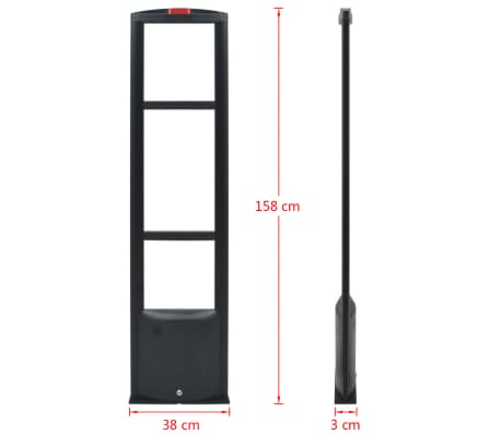 vidaXL RF antenos sistema su siųstuvu bei gavėju, 8,2 MHz, juoda[8/8]
