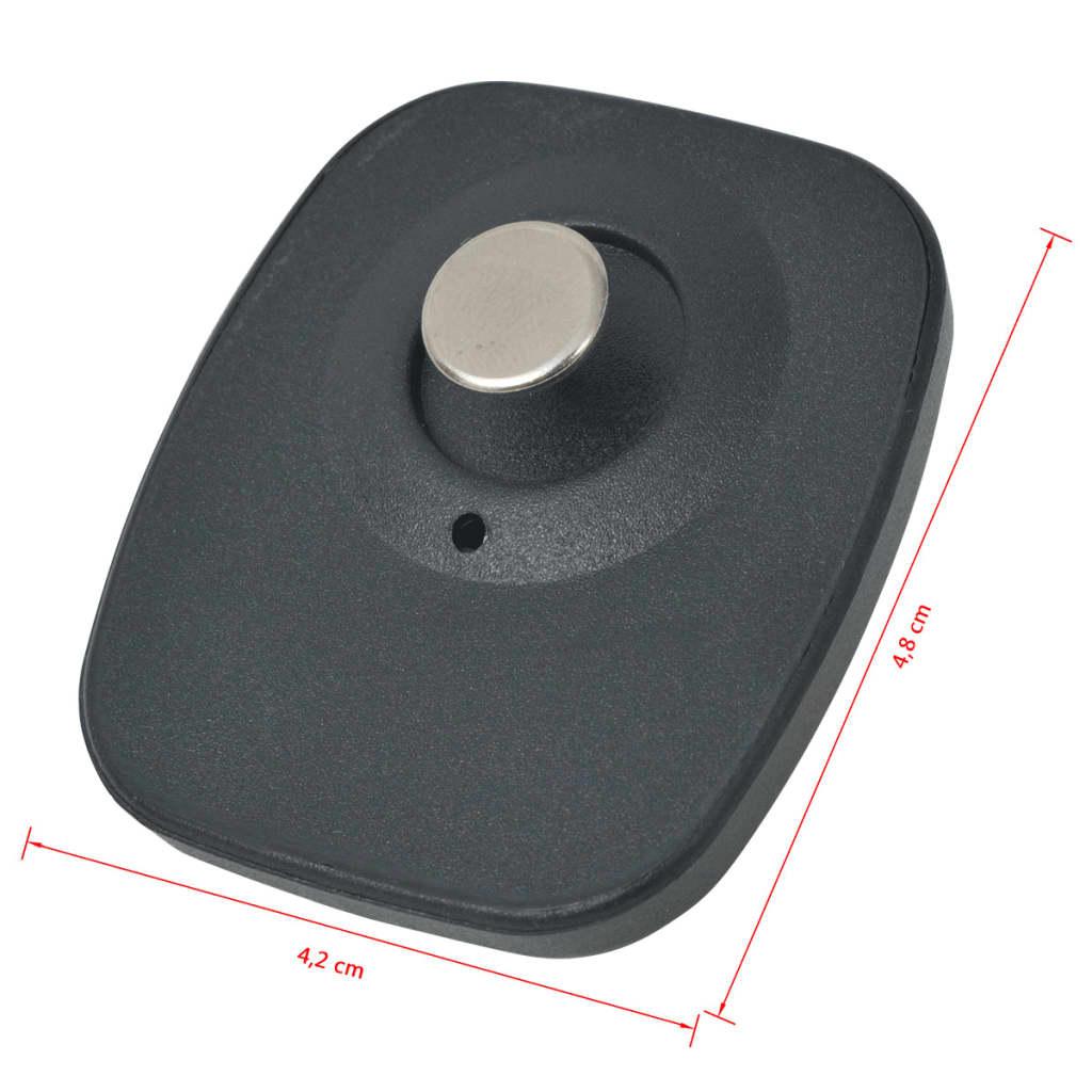 vidaXL RF Beveiligingslabels en pinnen 1.000 sets 8,2 MHz zwart
