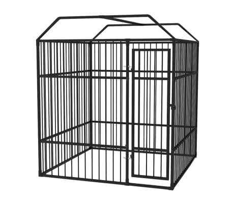 vidaXL Vzdržljiv zunanji pasji boks s streho 2x2 m[2/5]