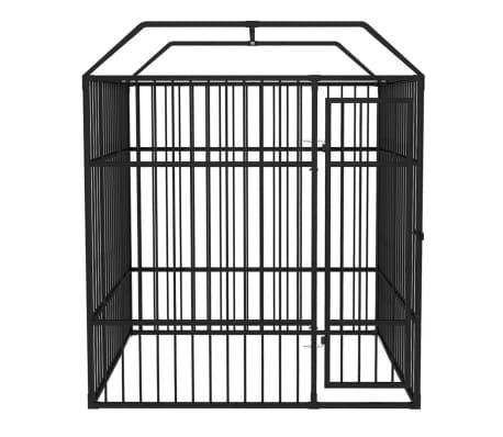 vidaXL Vzdržljiv zunanji pasji boks s streho 2x2 m[3/5]