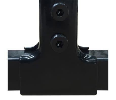 vidaXL Heavy-Duty Outdoor Dog Kennel with Roof 6'x6'[4/5]