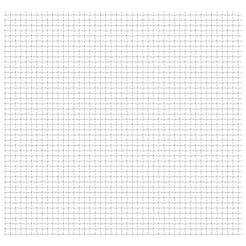 vidaXL Wellengitter Edelstahl 100x85 cm 21x21x2,5 mm