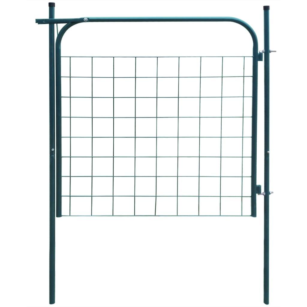 vidaXL Poartă pentru gard de gradină 100 x 100 cm verde vidaxl.ro