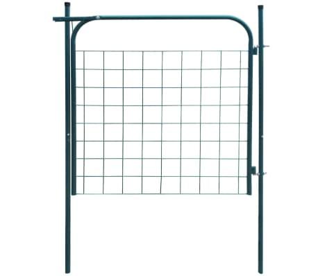 vidaXL Portail de clôture de jardin 100 x 100 cm Vert