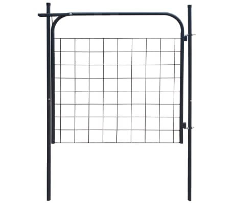 vidaXL Portail de clôture de jardin 100 x 100 cm Anthracite