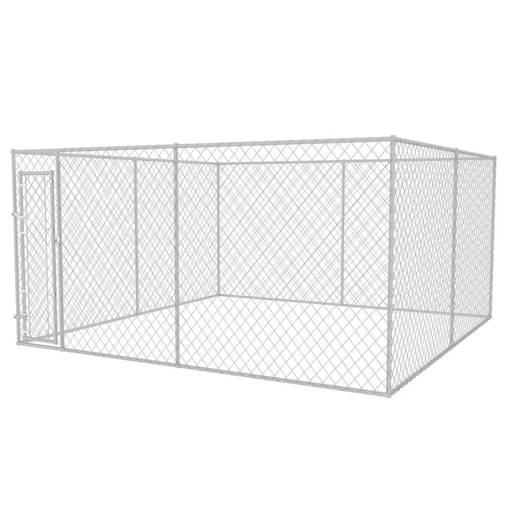 vidaXL Venkovní psí kotec 4 x 4 x 2 m
