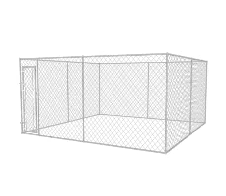 vidaXL Outdoor Dog Kennel 13'x13'x6.6'[1/4]