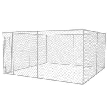 vidaXL Zunanji pasji boks 4x4 m[1/4]