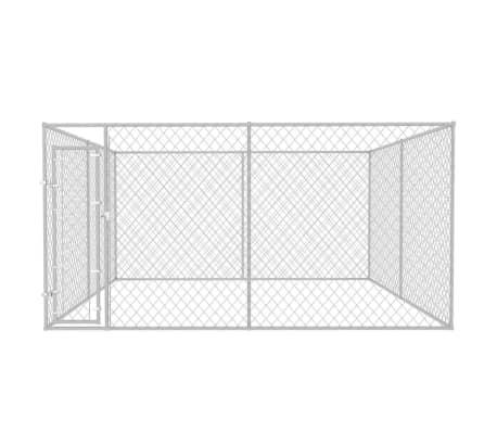 vidaXL Zunanji pasji boks 4x4 m[2/4]