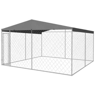 vidaXL Outdoor Dog Kennel with Roof 13