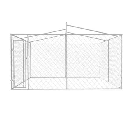 vidaXL Outdoor Dog Kennel with Roof 13'x13'x7.9'[2/5]
