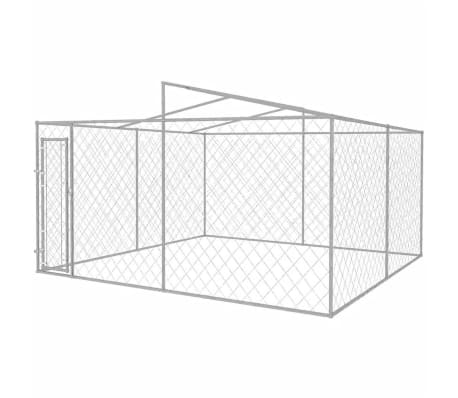 vidaXL Outdoor Dog Kennel with Roof 13'x13'[3/5]