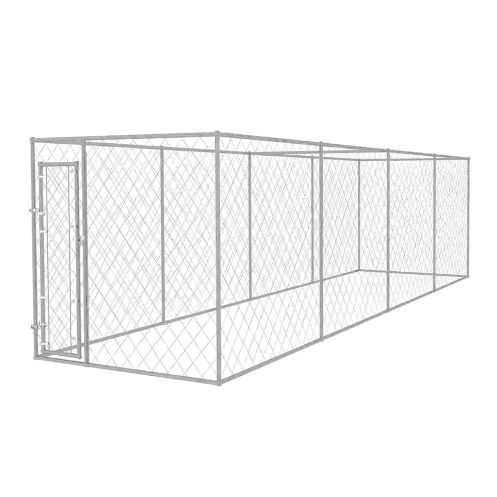 vidaXL Padoc pentru câini de exterior, 8 x 2 x 2 m imagine vidaxl.ro