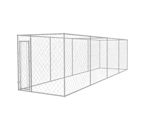 vidaXL Outdoor Dog Kennel 25'x6'x6.6'