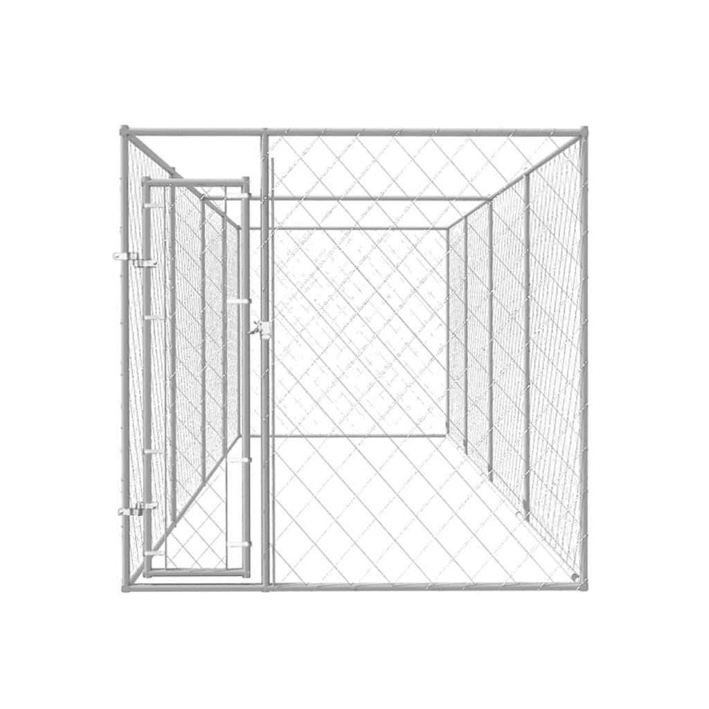 vidaXL Hondenkennel voor buiten 8x2x2 m