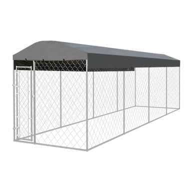 vidaXL Outdoor Dog Kennel with Roof 25