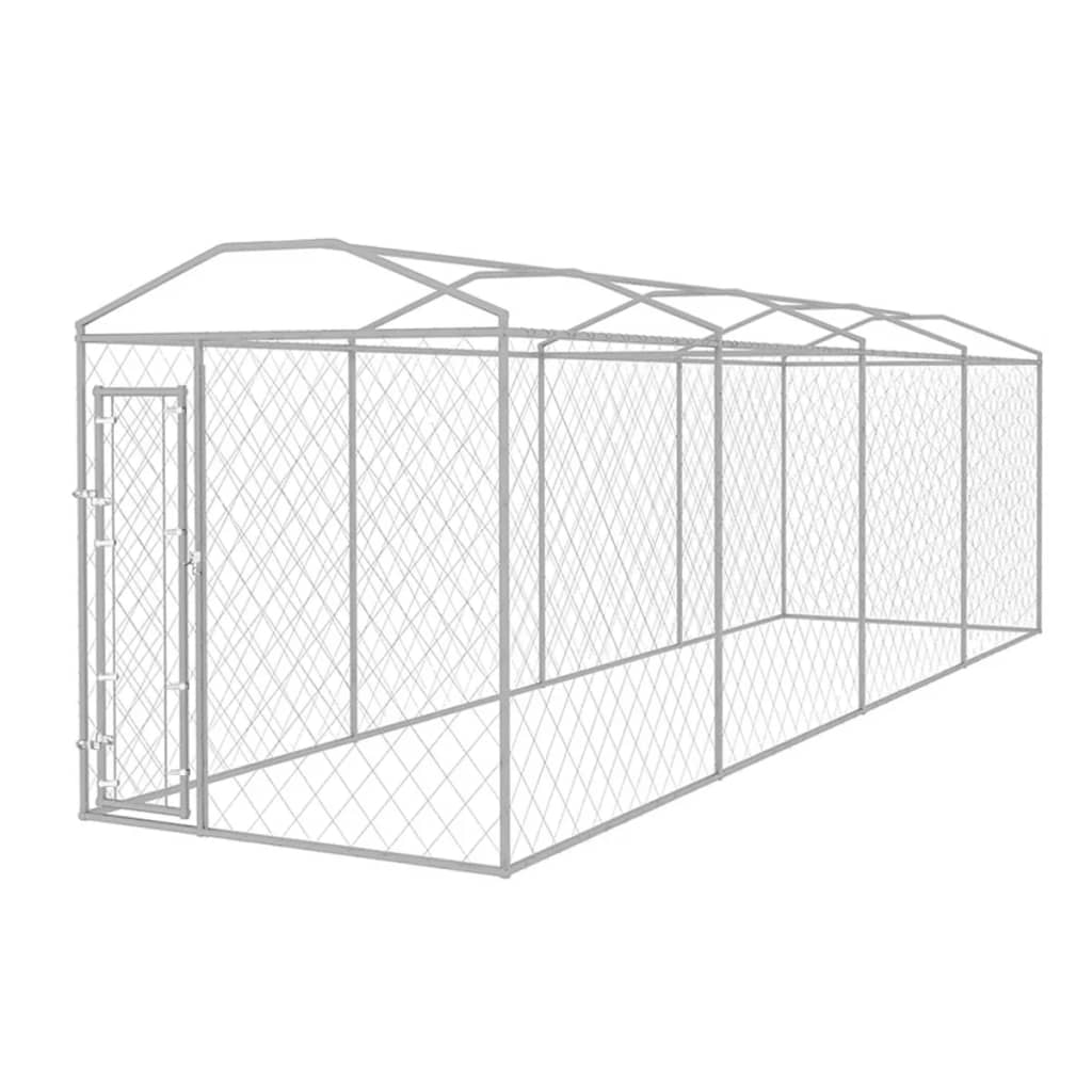 vidaXL Hondenkennel voor buiten met dak 8x2x2,4 m