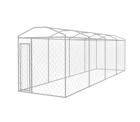 vidaXL Outdoor Dog Kennel with Roof 25'x6'[2/5]