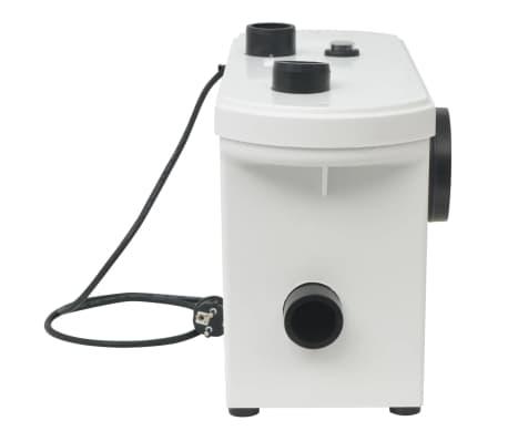 vidaXL Pompă tocător WC, 600 W, alb[4/6]