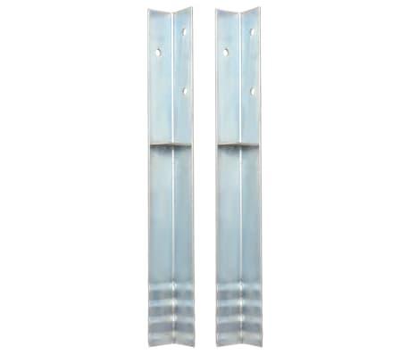 vidaXL Bodenanker L-Form für Spielturm 2 Stk. Stahl 5 x 5 x 50 cm[1/5]