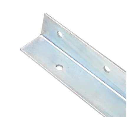 vidaXL Bodenanker L-Form für Spielturm 2 Stk. Stahl 5 x 5 x 50 cm[3/5]