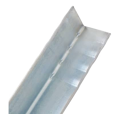 vidaXL Anclaje de tierra forma de L 12 uds acero galvanizado 5x5x50 cm[4/5]