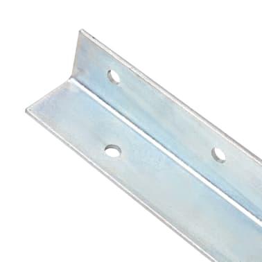 vidaXL Anclaje de tierra forma de L 12 uds acero galvanizado 5x5x50 cm[3/5]