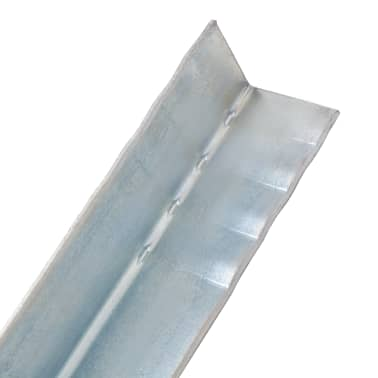 vidaXL L formos kuoliukai, 12vnt., cinkuotas plienas, 5x5x50cm[4/5]