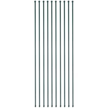 vidaXL Sodo stulpai, 10vnt., 2m, metalas, žalia spalva[1/4]