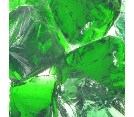 vidaXL gabion kerti üveg kő zöld 60-120 mm 25 kg