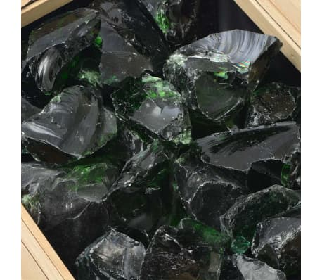 vidaXL Akmenys gabionui, stiklas, žalia spalva, 60-120 mm, 25 kg[4/8]
