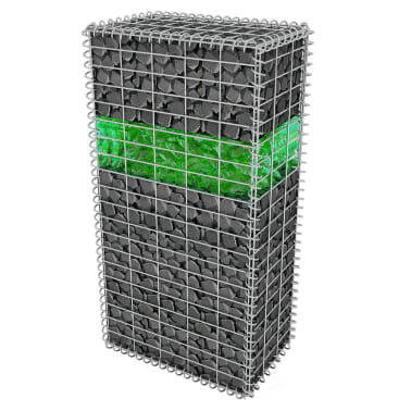 vidaXL Akmenys gabionui, stiklas, žalia spalva, 60-120 mm, 25 kg[3/8]