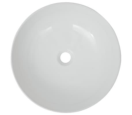 "vidaXL Basin Round Ceramic White 16.3""x5.3""[3/5]"