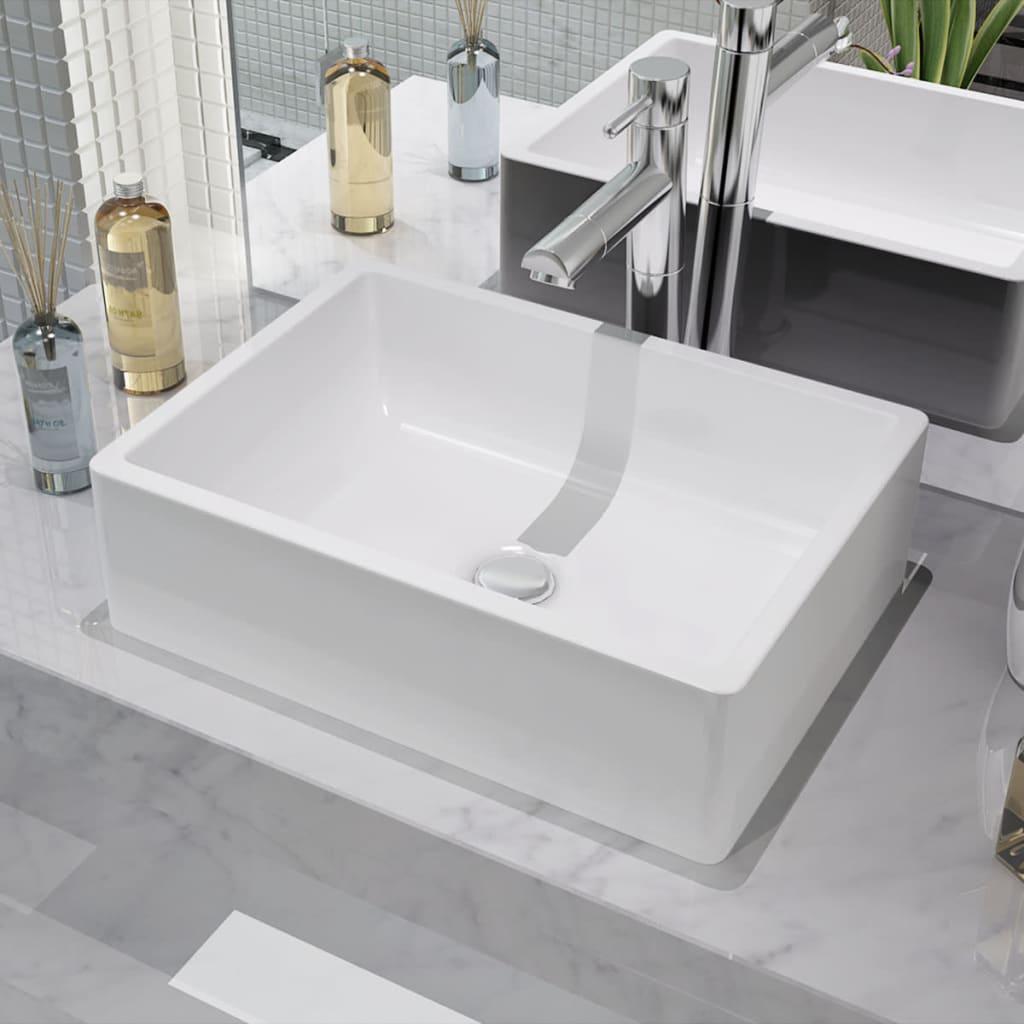 Umyvadlo keramické bílé 41x30x12 cm