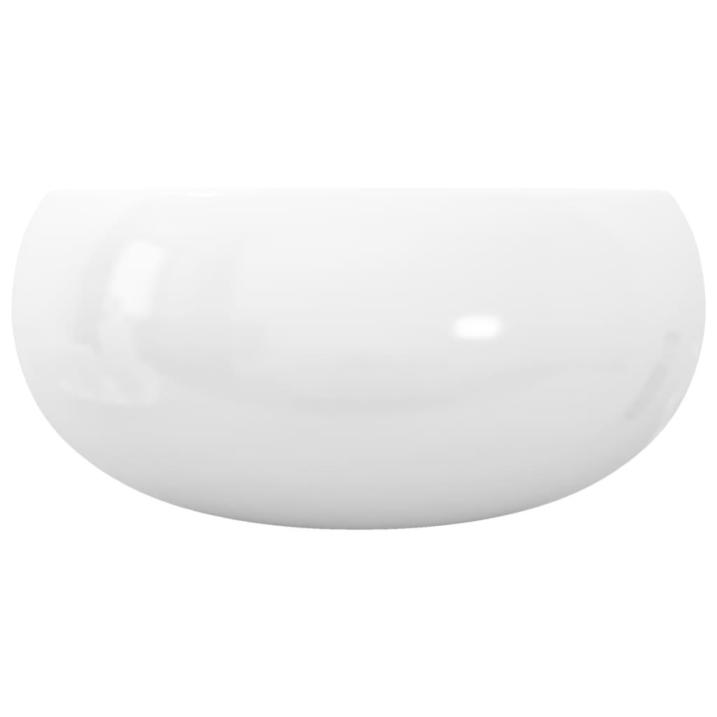 Wastafel rond 40x15 cm keramiek wit