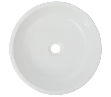vidaxl waschbecken rund keramik wei 42 x 12 cm g nstig. Black Bedroom Furniture Sets. Home Design Ideas