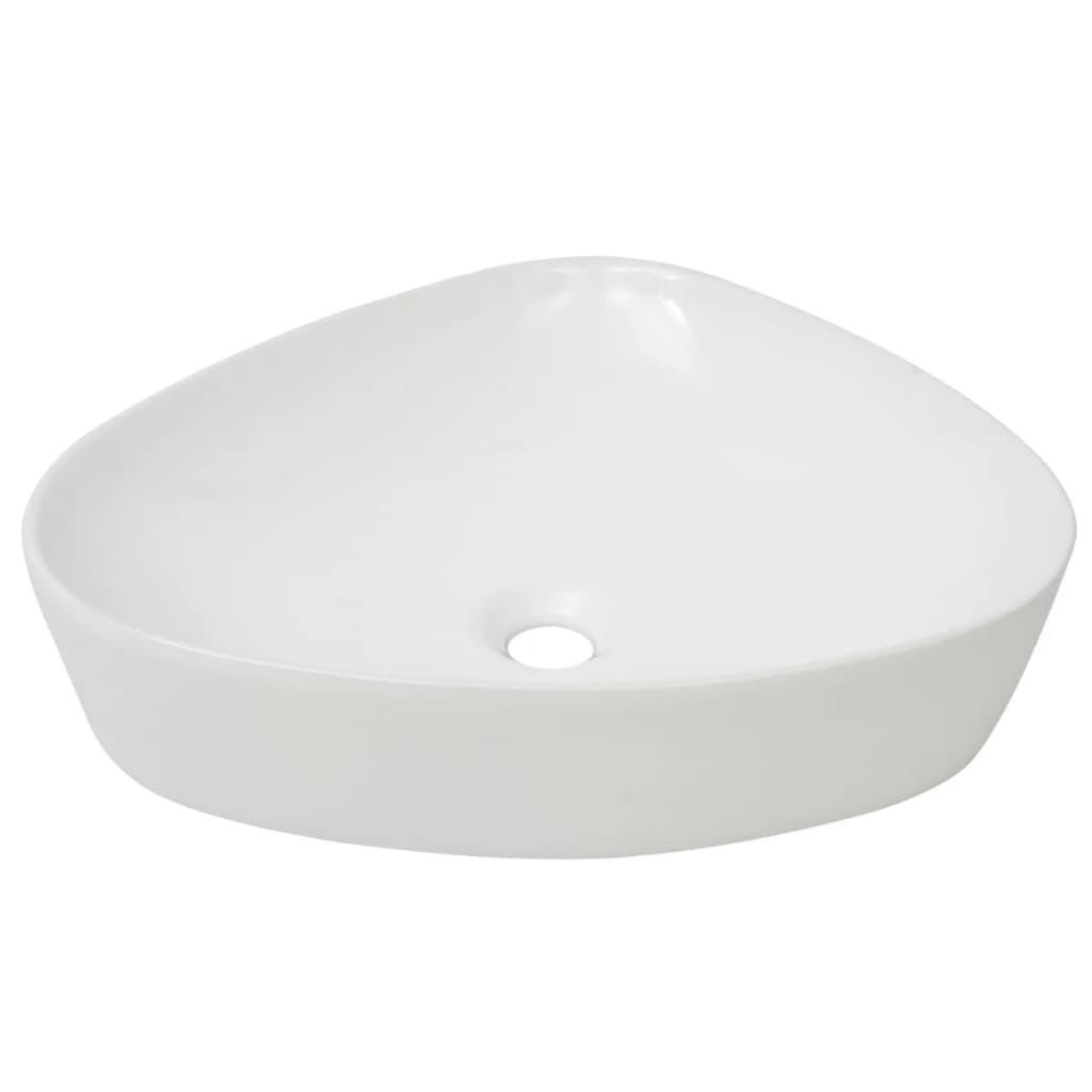 vidaXL Νιπτήρας Τριγωνικός Λευκός 50,5 x 41 x 12 εκ. Κεραμικός
