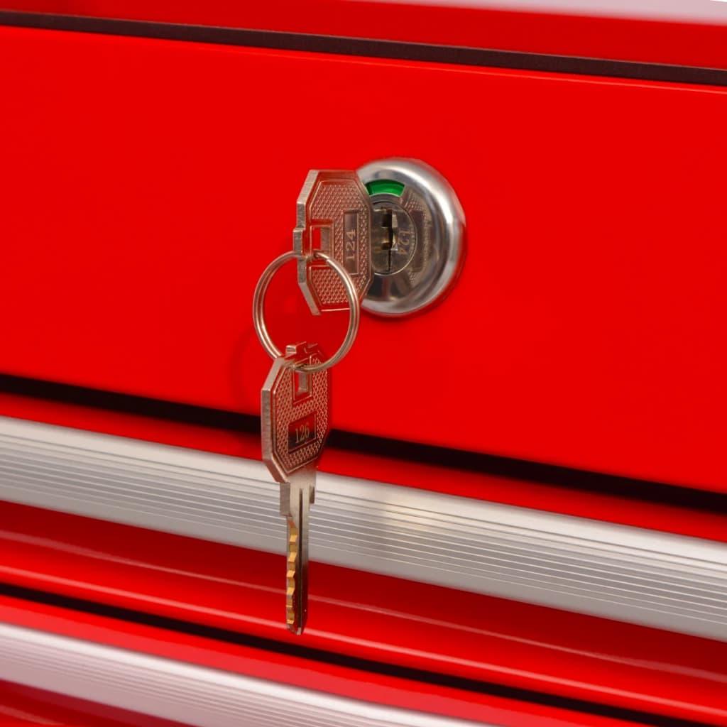 999142351 Werkstattwagen mit 14 Schubladen Größe XXL Stahl Rot