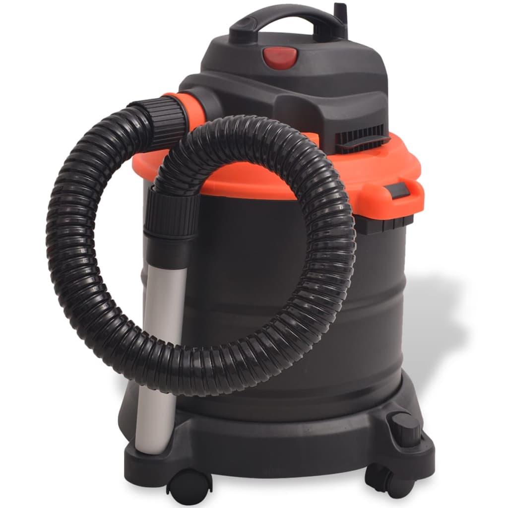vidaXL Aspirator pentru cenușă, 1200 W, 20 L, negru și portocaliu imagine vidaxl.ro