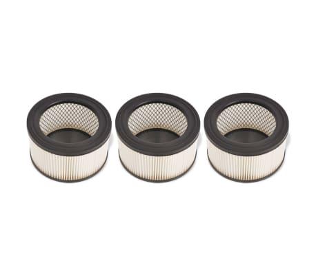 vidaXL HEPA filtrai skirti pelenų siurbliui, 3 vnt., balti ir juodi[1/5]