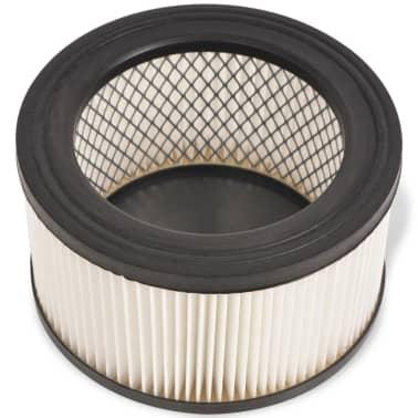 vidaXL HEPA filtrai skirti pelenų siurbliui, 3 vnt., balti ir juodi[2/5]